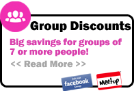 Group discounts for 7 or more people, click for more info.