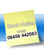 Call : 08456 442083 or book online
